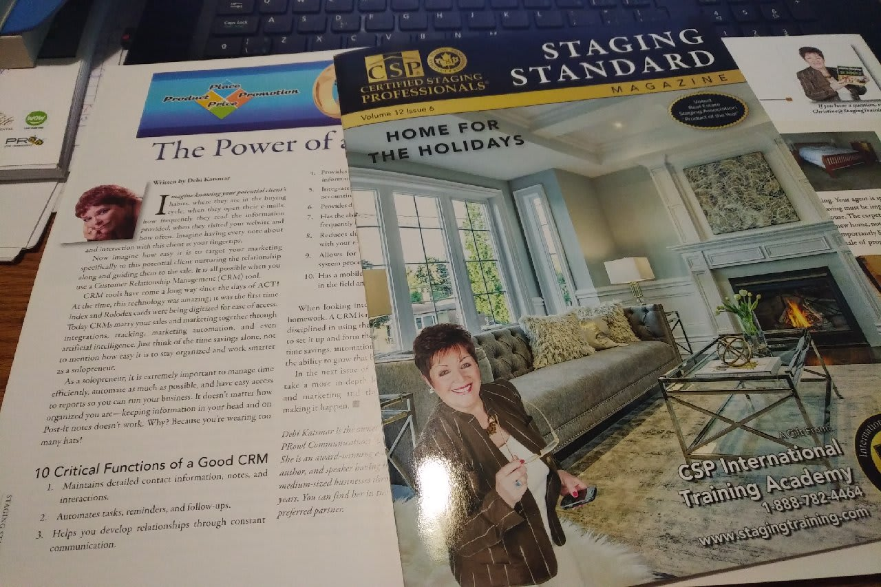 article in the staging standard magazine