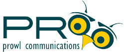 PRowl Communications logo with PRowl Owl