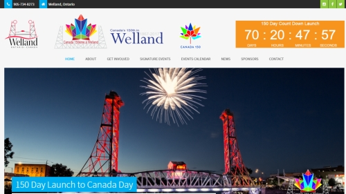 canada 150 in welland website image