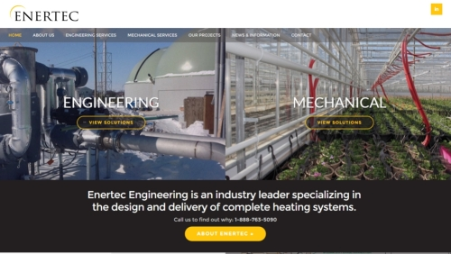Enertec Engineering website image