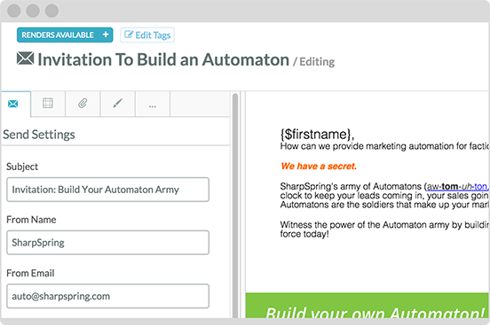 behavioural-based email automation