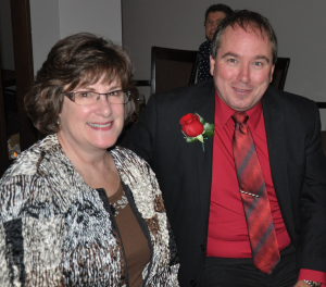 Gail Belchior and Tim Proctor at the Ruby Awards
