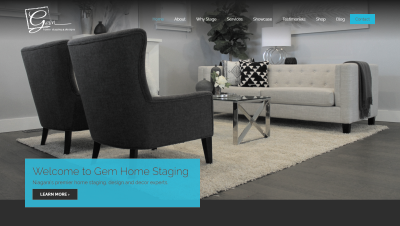 Gem Home Staging Responsive Website
