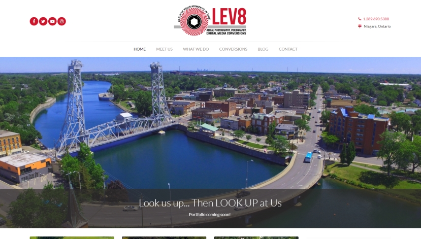 Lev8 Low Level Aerial Photography responsive website thumbnail