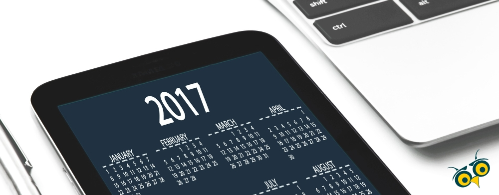 2017 calendar and computer for planning