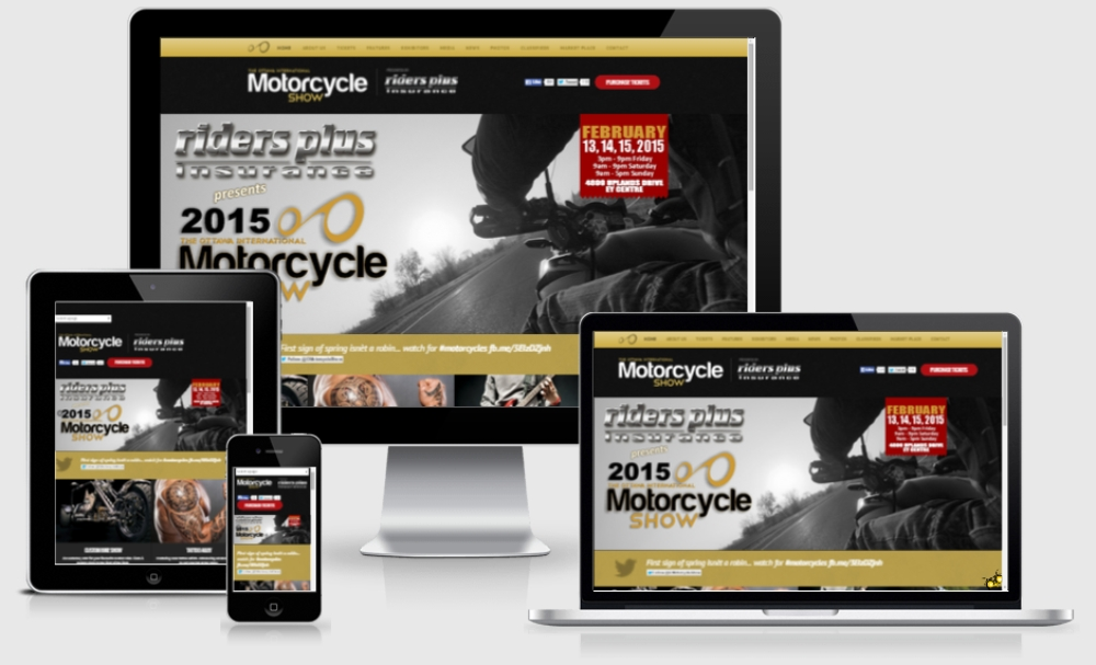 Ottawa Motorcycle Show responsive website by YDV Group