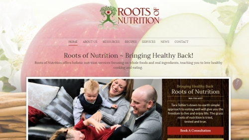 Roots of Nutrition website image