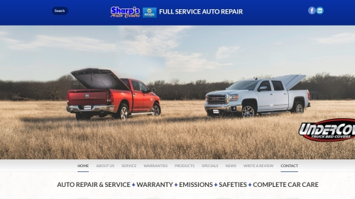 Sharp's Auto Centre website image