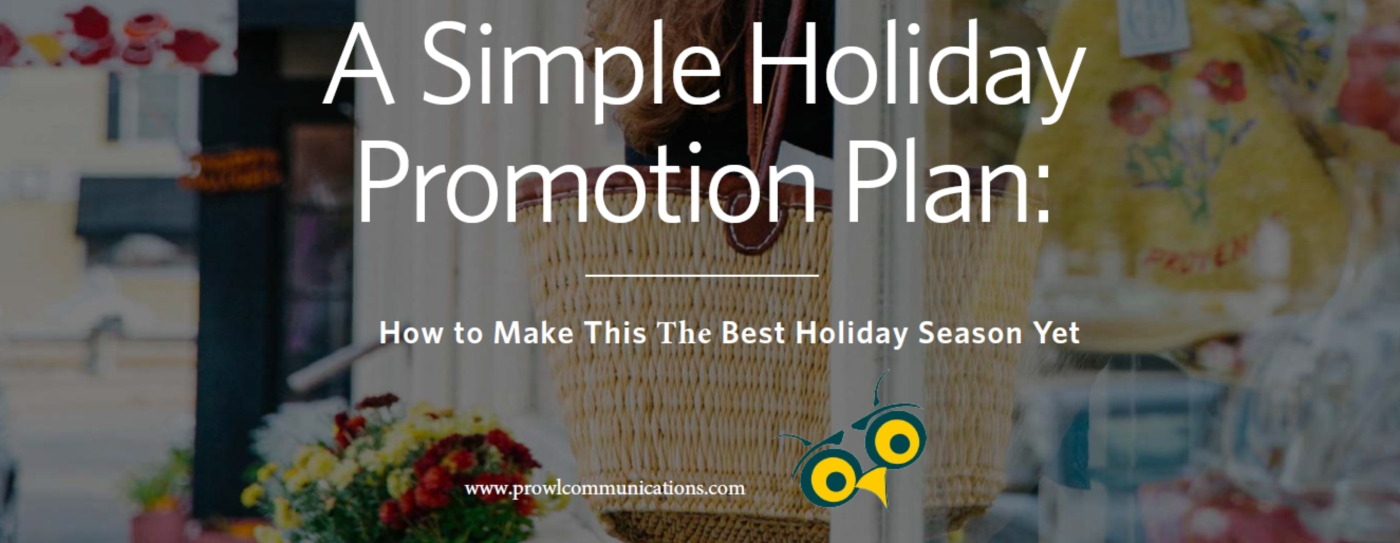 A simple holiday promotion plan banner