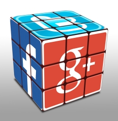 rubics cube with social icons