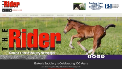 The Rider online equestrian newspaper website