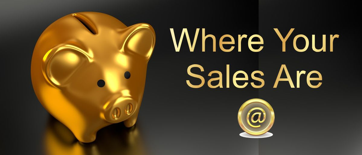 gold piggy bank - where your sales are @